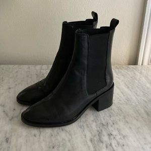 Alias Mae Gail black leather ankle boots booties